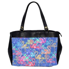 Flamingo pattern Office Handbags (2 Sides)