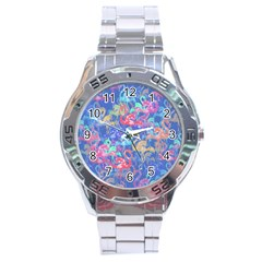 Flamingo pattern Stainless Steel Analogue Watch