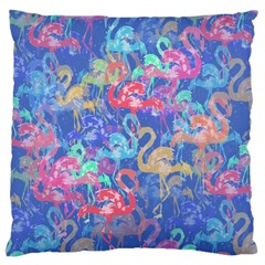 Flamingo pattern Large Cushion Case (Two Sides)