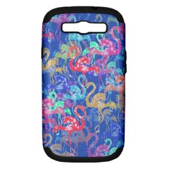 Flamingo pattern Samsung Galaxy S III Hardshell Case (PC+Silicone)