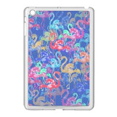 Flamingo pattern Apple iPad Mini Case (White)