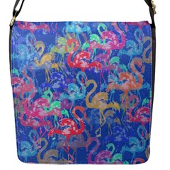 Flamingo pattern Flap Messenger Bag (S)