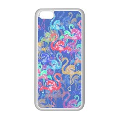 Flamingo pattern Apple iPhone 5C Seamless Case (White)