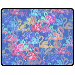 Flamingo pattern Double Sided Fleece Blanket (Medium)