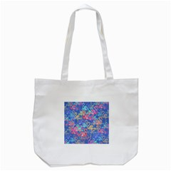 Flamingo pattern Tote Bag (White)