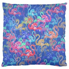 Flamingo pattern Large Flano Cushion Case (Two Sides)