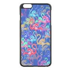 Flamingo pattern Apple iPhone 6 Plus/6S Plus Black Enamel Case