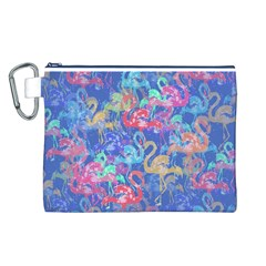 Flamingo pattern Canvas Cosmetic Bag (L)