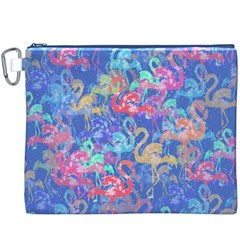 Flamingo pattern Canvas Cosmetic Bag (XXXL)