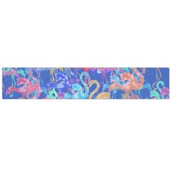 Flamingo pattern Flano Scarf (Large)