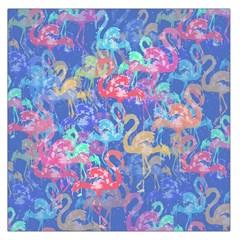 Flamingo pattern Large Satin Scarf (Square)