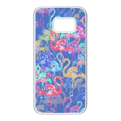 Flamingo pattern Samsung Galaxy S7 White Seamless Case