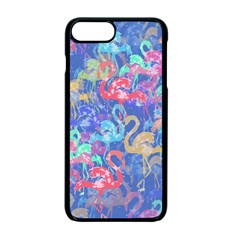 Flamingo pattern Apple iPhone 7 Plus Seamless Case (Black)