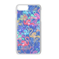 Flamingo pattern Apple iPhone 7 Plus White Seamless Case