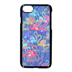 Flamingo pattern Apple iPhone 7 Seamless Case (Black)