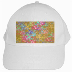 Flamingo pattern White Cap