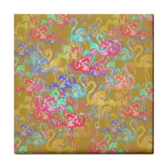 Flamingo pattern Tile Coasters