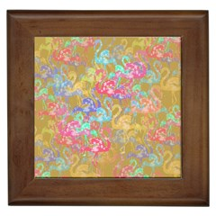 Flamingo pattern Framed Tiles