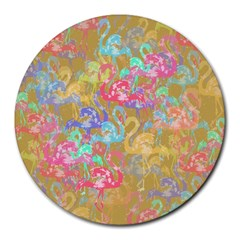 Flamingo pattern Round Mousepads