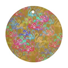 Flamingo pattern Ornament (Round)