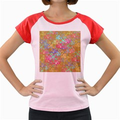 Flamingo pattern Women s Cap Sleeve T-Shirt