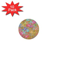 Flamingo pattern 1  Mini Buttons (10 pack)