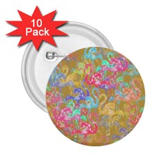 Flamingo pattern 2.25  Buttons (10 pack)