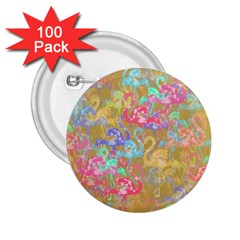 Flamingo pattern 2.25  Buttons (100 pack)