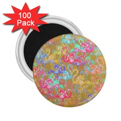 Flamingo pattern 2.25  Magnets (100 pack)