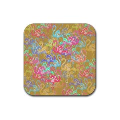 Flamingo pattern Rubber Coaster (Square)