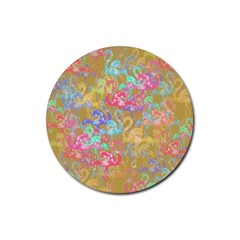Flamingo pattern Rubber Round Coaster (4 pack)
