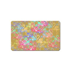 Flamingo pattern Magnet (Name Card)