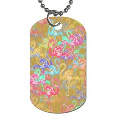 Flamingo pattern Dog Tag (Two Sides)