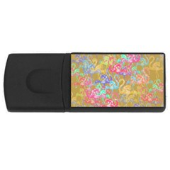 Flamingo pattern USB Flash Drive Rectangular (2 GB)