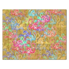 Flamingo pattern Rectangular Jigsaw Puzzl