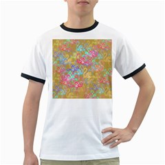 Flamingo pattern Ringer T-Shirts