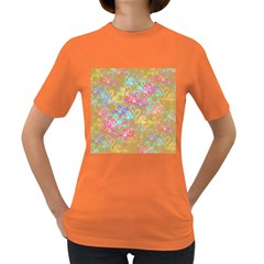 Flamingo pattern Women s Dark T-Shirt