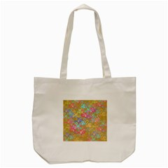 Flamingo pattern Tote Bag (Cream)