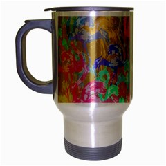Flamingo pattern Travel Mug (Silver Gray)