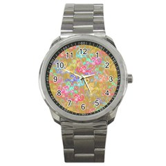 Flamingo pattern Sport Metal Watch