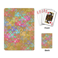 Flamingo pattern Playing Card