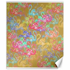 Flamingo pattern Canvas 8  x 10
