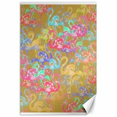 Flamingo pattern Canvas 20  x 30