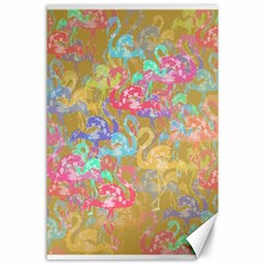 Flamingo pattern Canvas 24  x 36