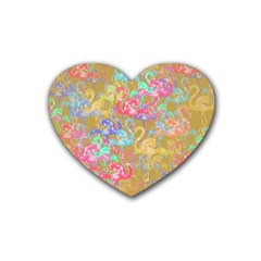 Flamingo pattern Rubber Coaster (Heart)