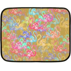 Flamingo pattern Fleece Blanket (Mini)