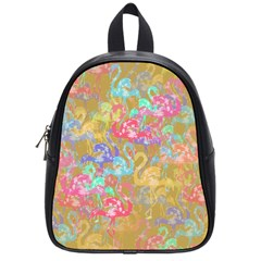 Flamingo pattern School Bags (Small)
