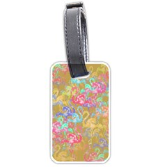 Flamingo pattern Luggage Tags (One Side)