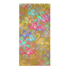 Flamingo pattern Shower Curtain 36  x 72  (Stall)