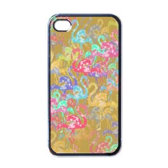 Flamingo pattern Apple iPhone 4 Case (Black)